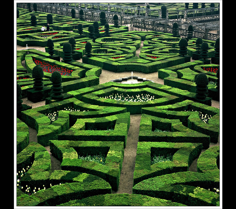 Chateau de Villandry gardens, Loire valley, France