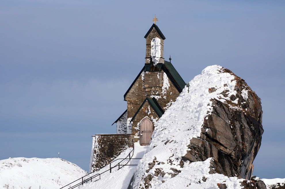 Church at the summit of the Wendelstein mountain, Bavaria, Germany