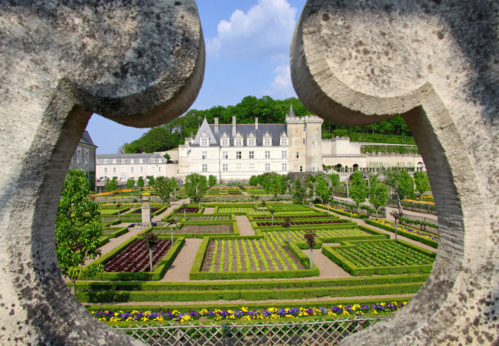 France -- Villandry -- Garden built by love