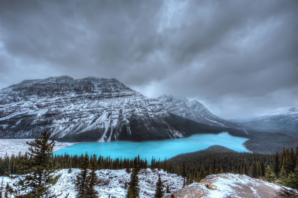 It looks like there is no one else in the world in this photo of Lake Peyto, Canada