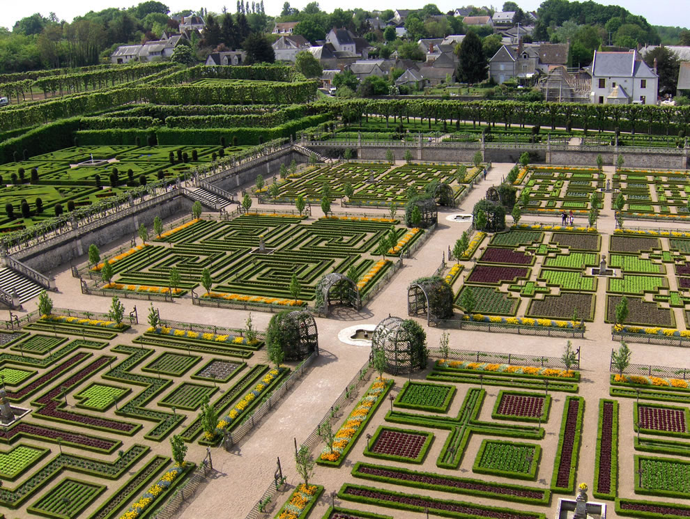 The château de Villandry vegetable garden