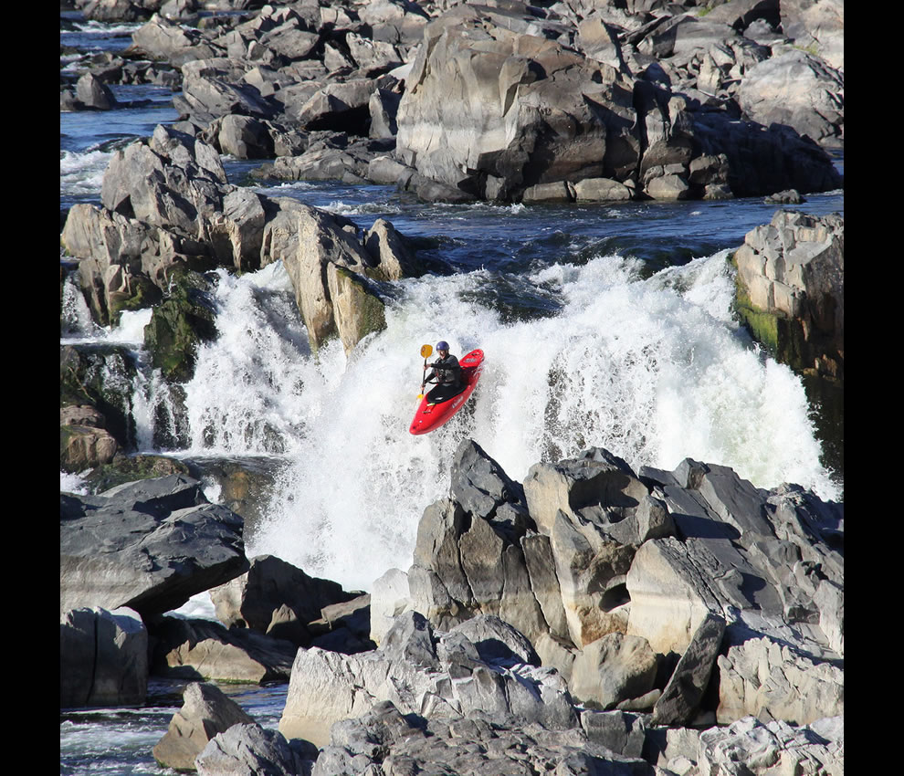 A rocky kayak ride Great Falls Park just outside Washington DC