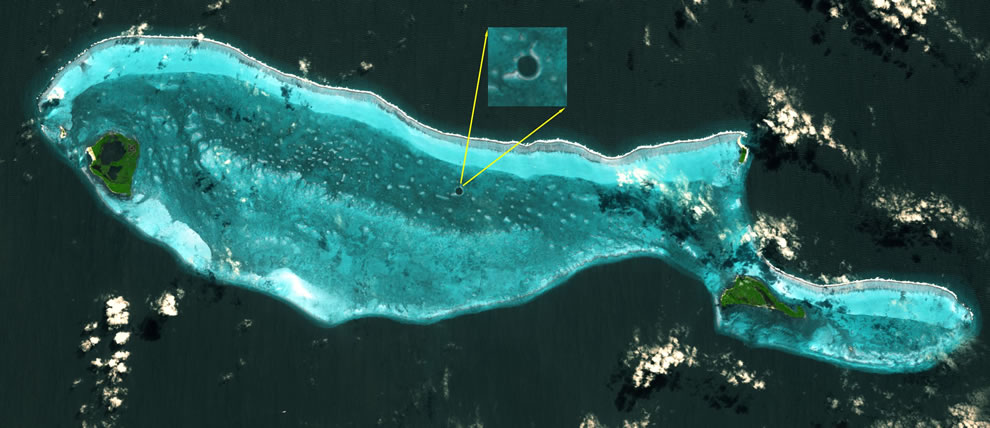 ASTER Satellite Image of the Great Blue Hole, Belize