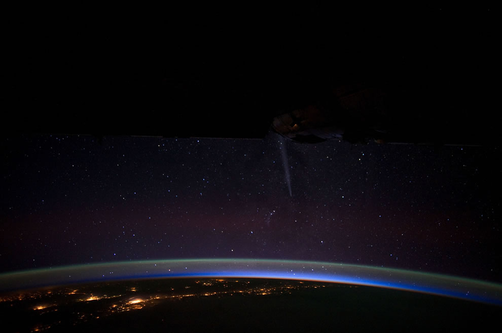 Comet Lovejoy Fading (NASA, International Space Station, 12-27-11)
