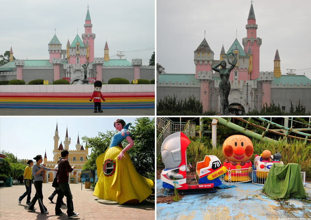 Japan's Nara Dreamland, Disneyland knockoff Before and After