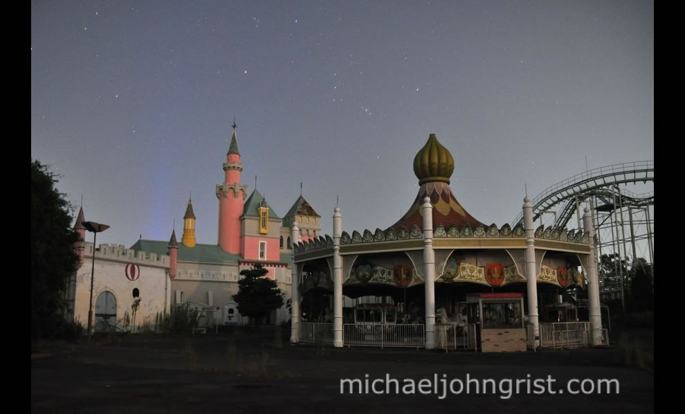 September 2010 Merry-go-round under the stars at abandoned Nara Dreamland
