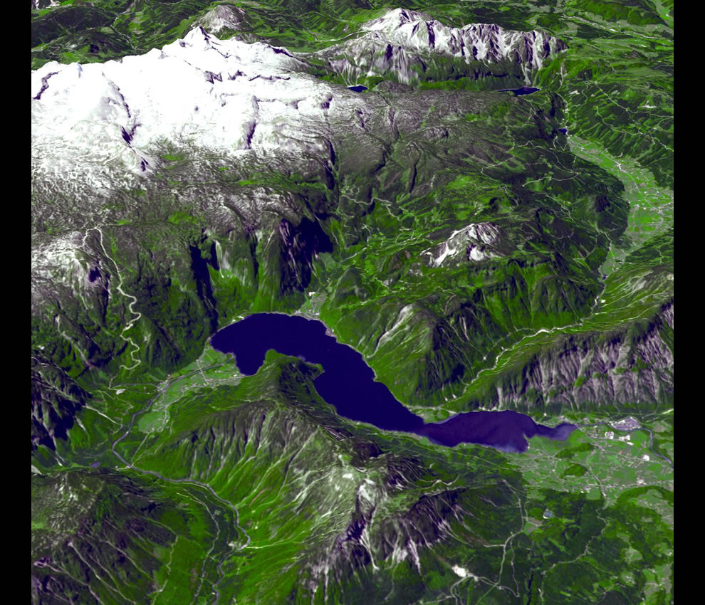 The Alps form a great crescent-shaped ridge extending from the Mediterranean to Austria