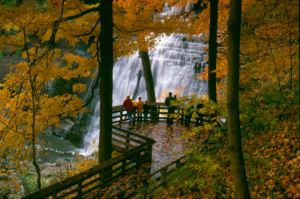 Brandywine Falls observation area
