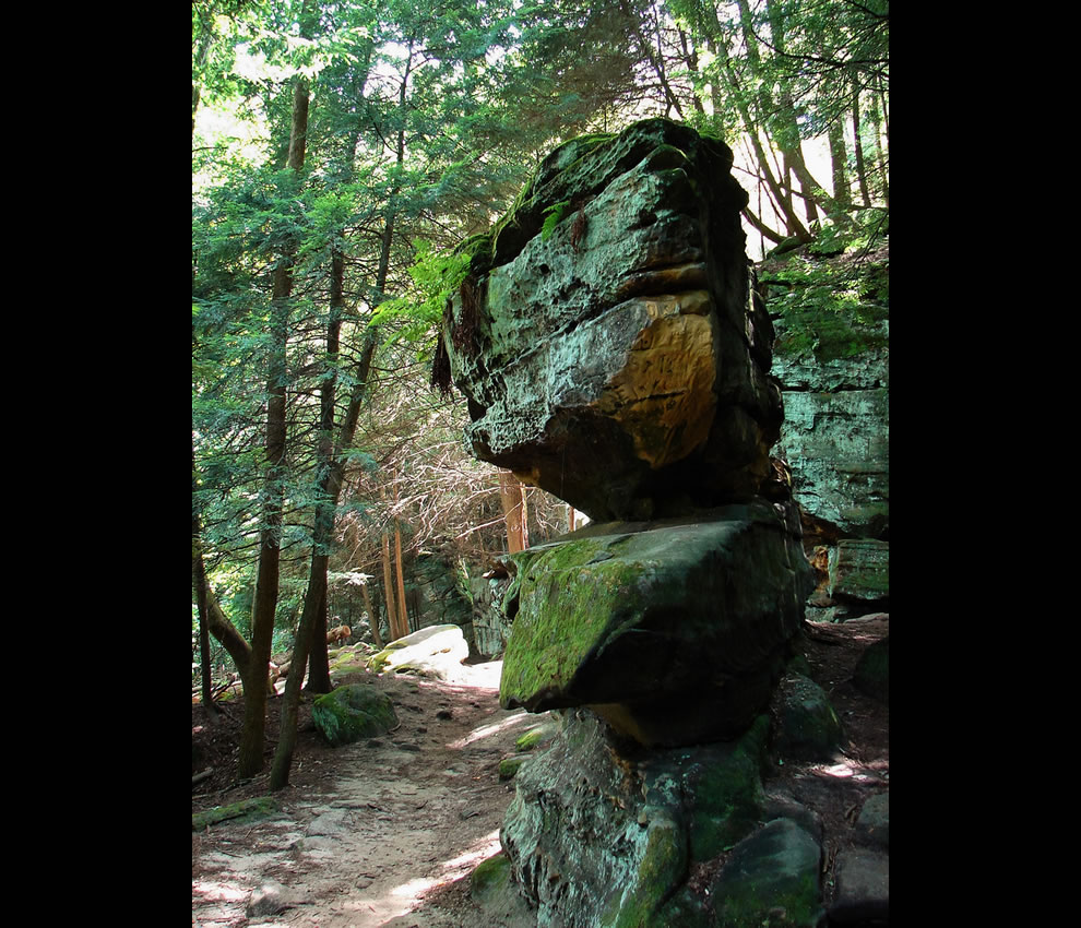 Hike the trail by Ledges in CVNP