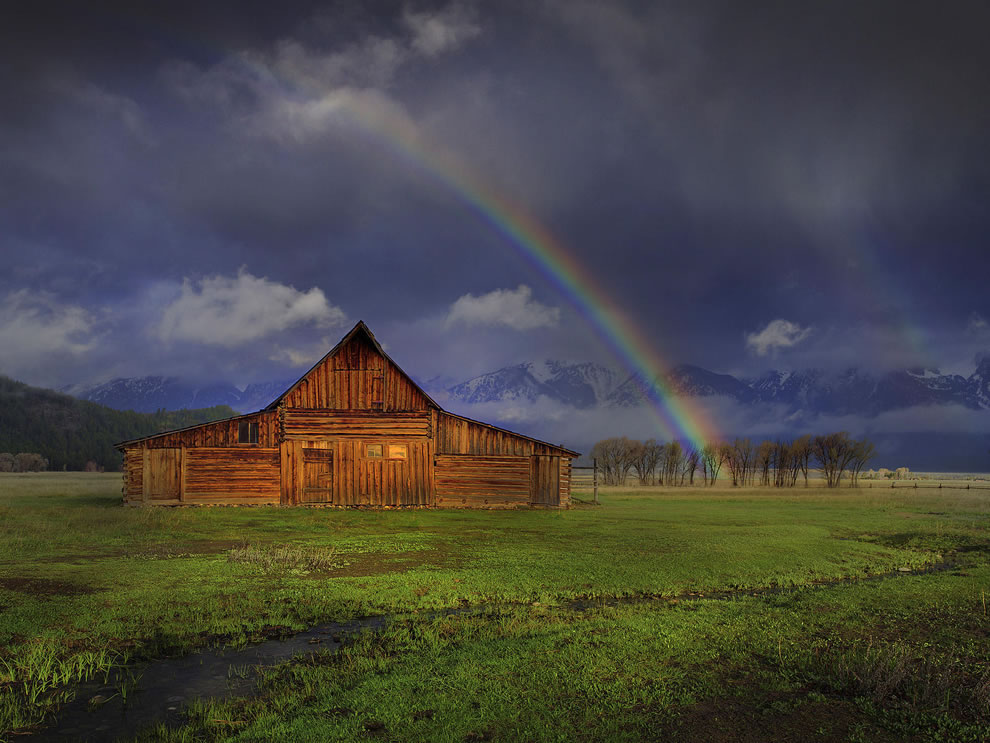 Rainbow Forever, Moulton Barn at Grand Teton National Park Wyoming