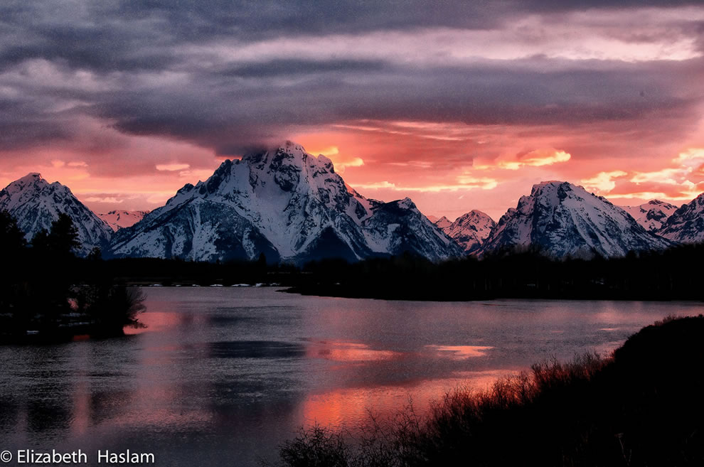 Sunrise and unsurpassed beauty of nature of Grand Teton National Park