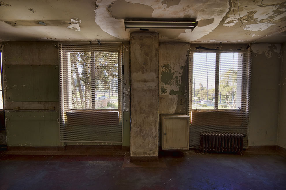 Abandoned LA hospital, to be converted to senior citizen living center. To keep the ghosts or patients in the haunted hospital Linda Vista