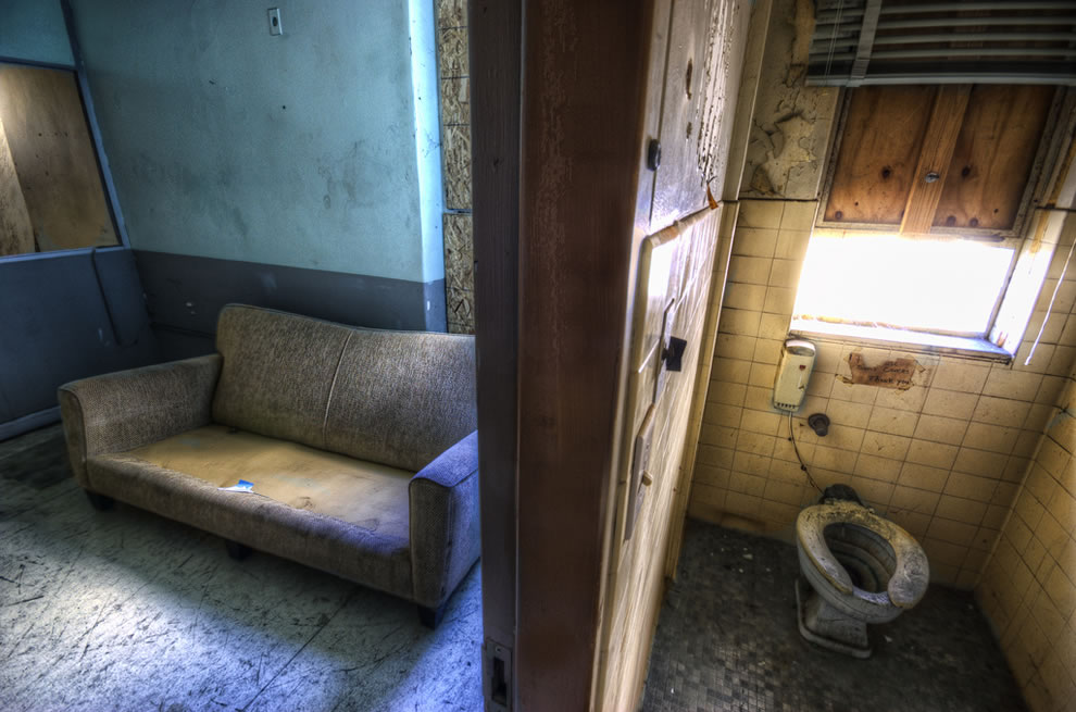 Disgusting dirty abandoned room in the haunted hospital