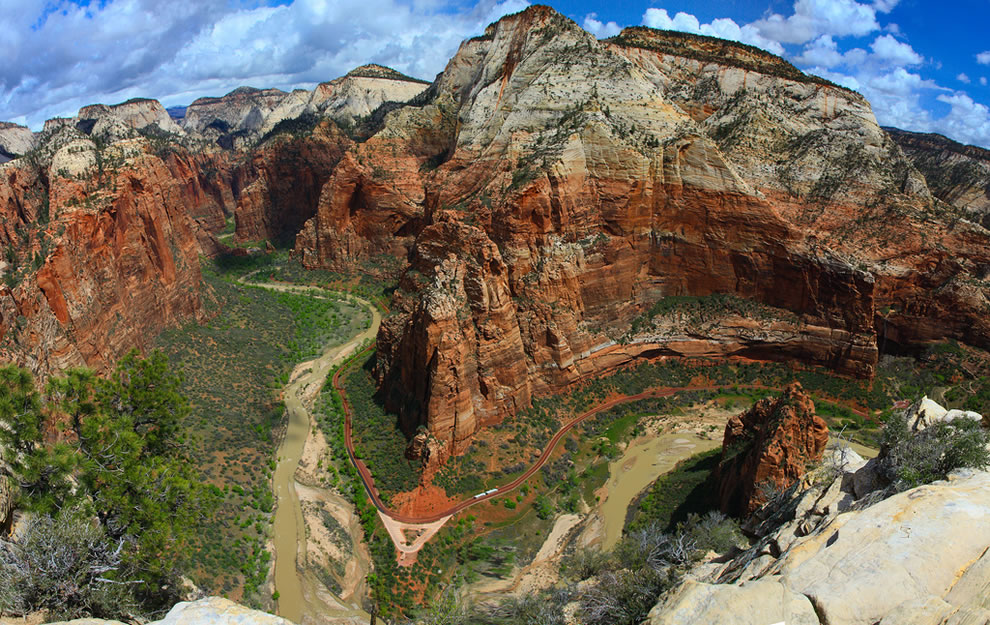 On Angel&#039;s wings --  Angels Landing trail of Zion National Park is something to behold