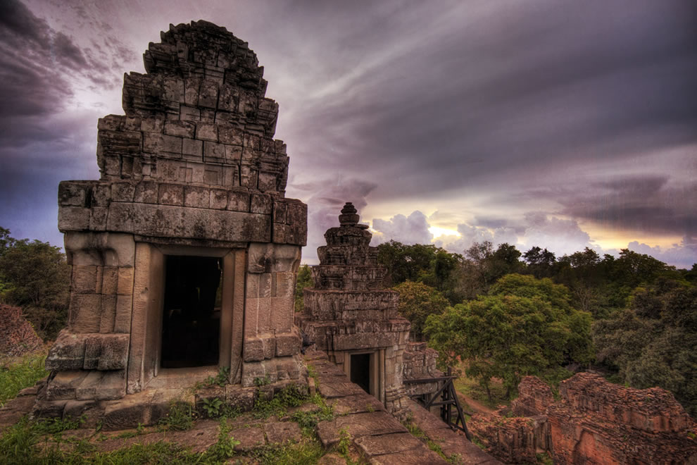 The Crypt at Sunset -- A hilltop temple at Sunset near Angkor Wat