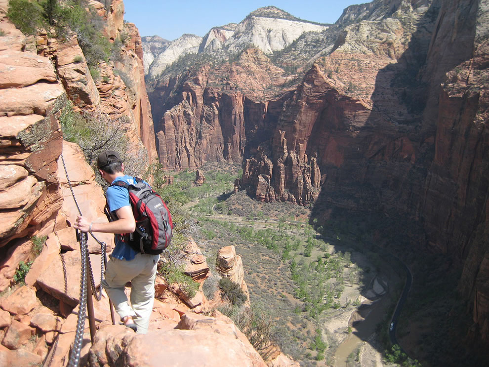 Angels Landing Hiker