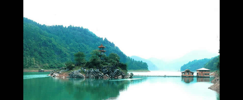 Lovers Island in man-made Qiandao Lake