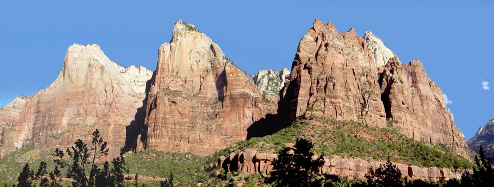 The Three Patriarchs in Zion Canyon