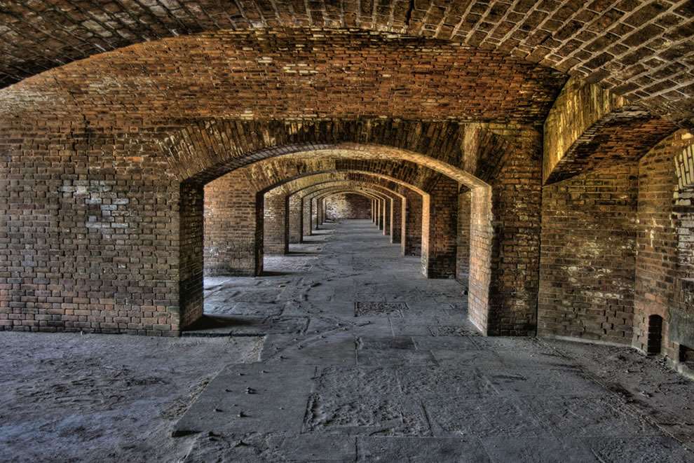 Fort Jefferson Arches at Dry Tortugas National Park