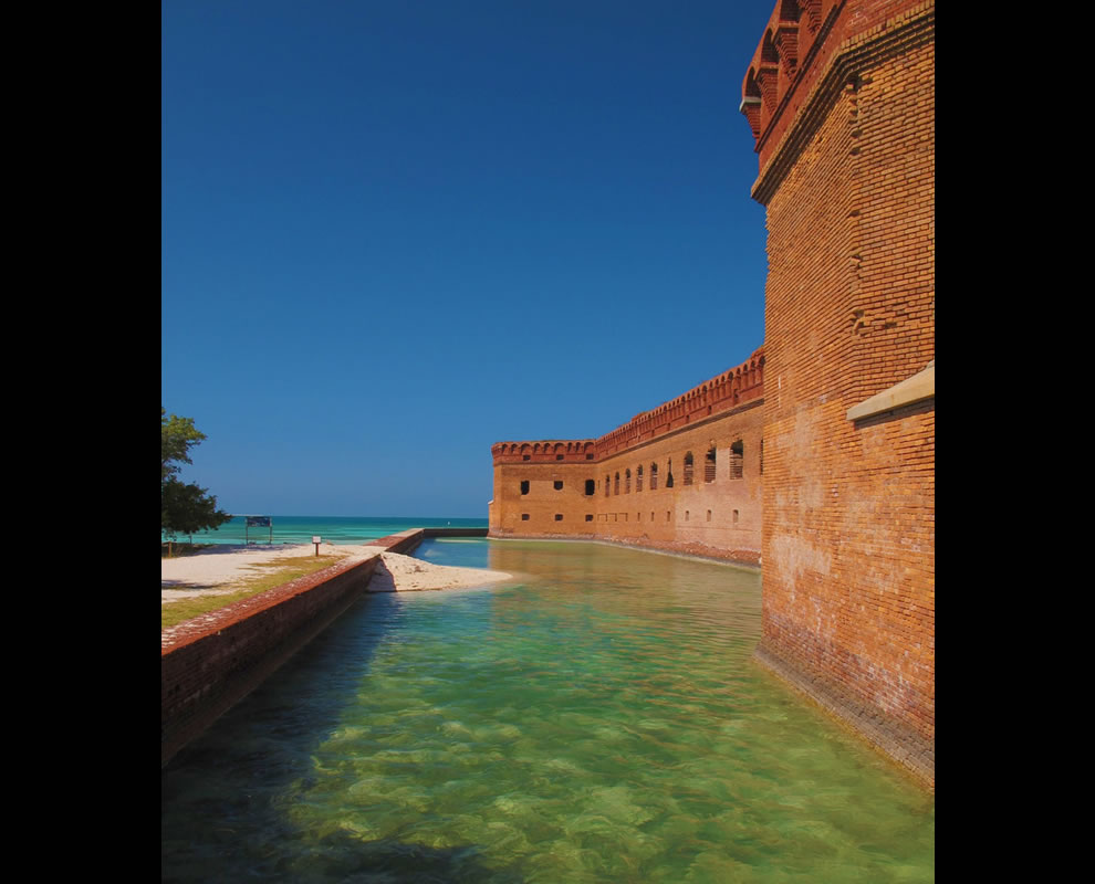 Fort Jefferson Moat and Seawall