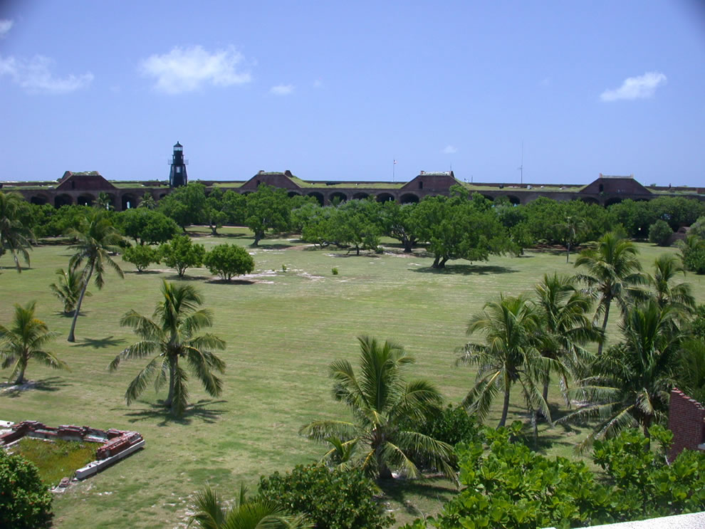 Historic parade grounds inside Fort Jefferson