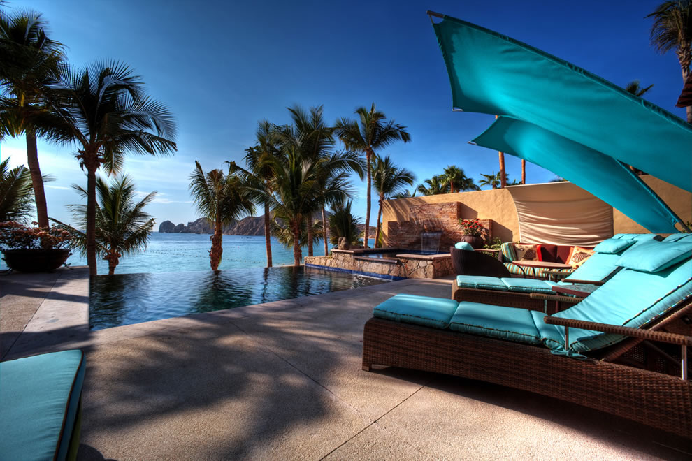 Infinity pool at Hacienda Resort in Cabo