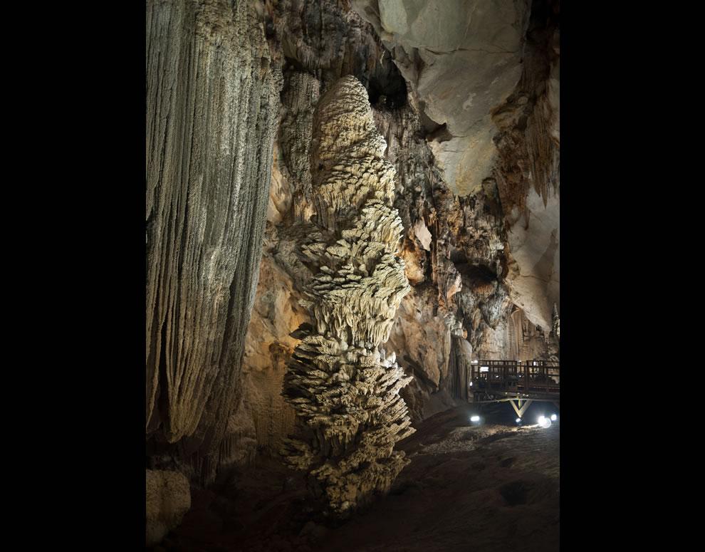 Spectacular stalagmites inside Vietnam's Paradise Cave