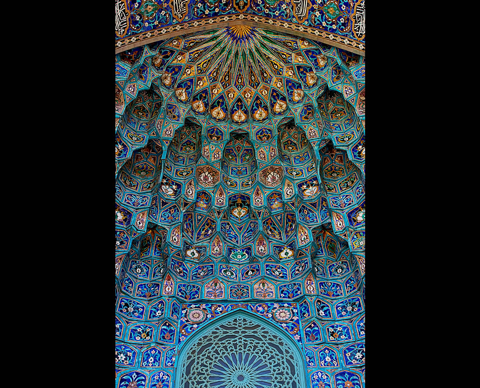 #11 – 31 votes in Final; Saint Petersburg Mosque. Maiolica of portal, in the form of Muqarnas.
