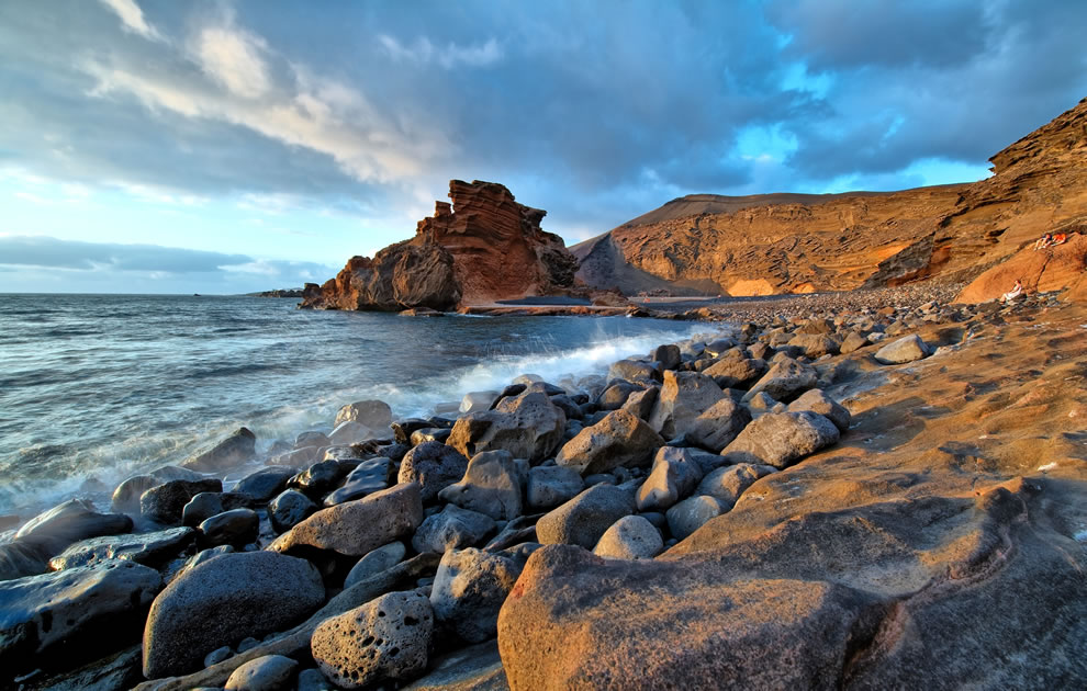 El Golfo Beach in Lanzarote, Canary Islands, Spain