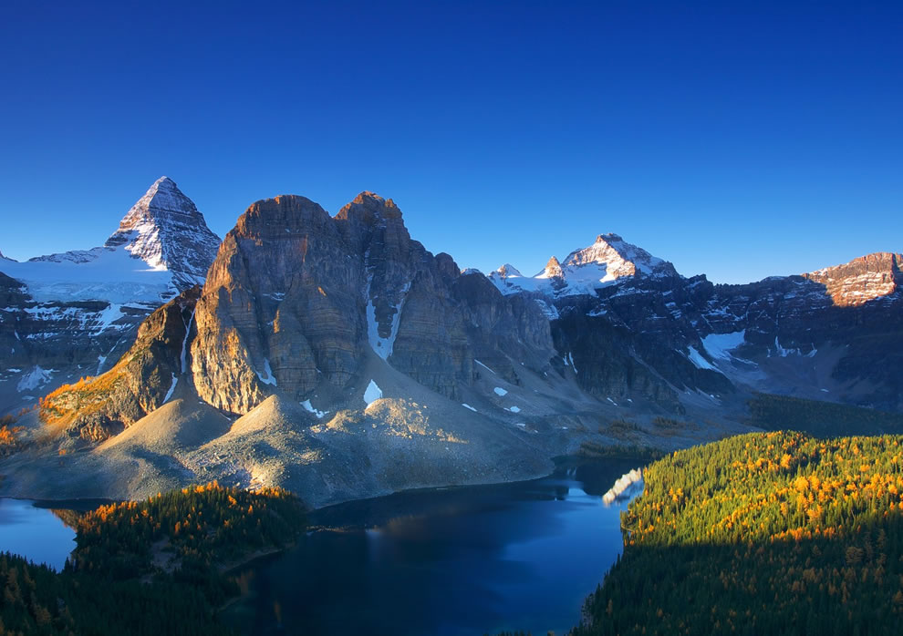 Mt Assiniboine on an Autumn Morning Outdoor Scenes
