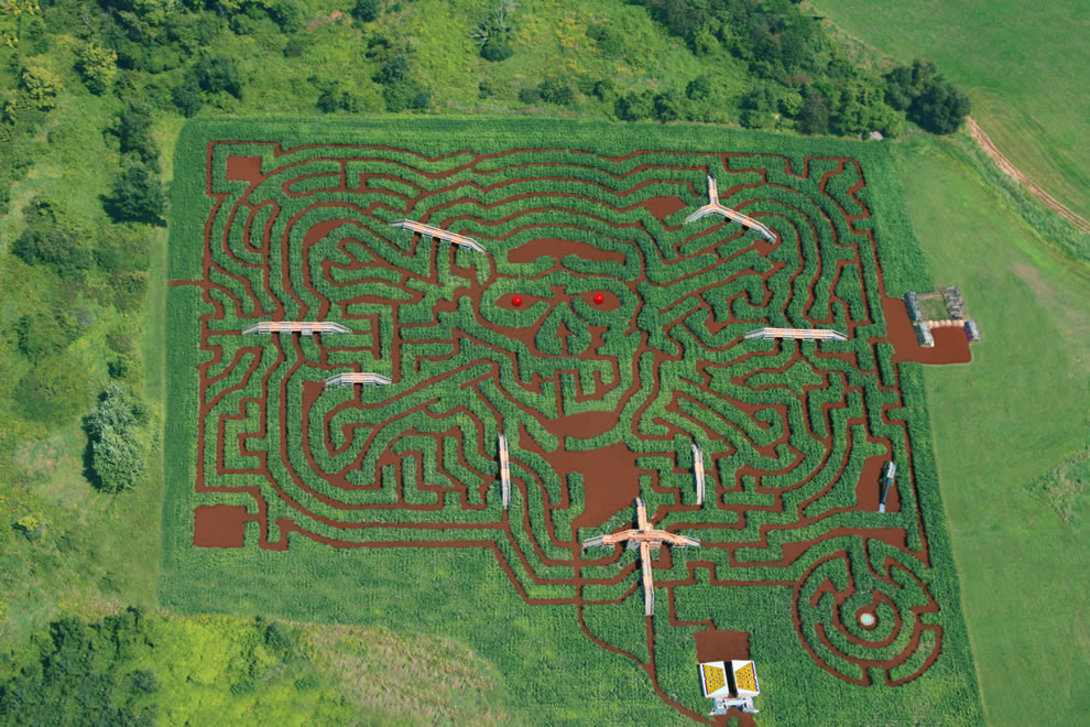 Aerial Corn Maze Black Beard's Revenge