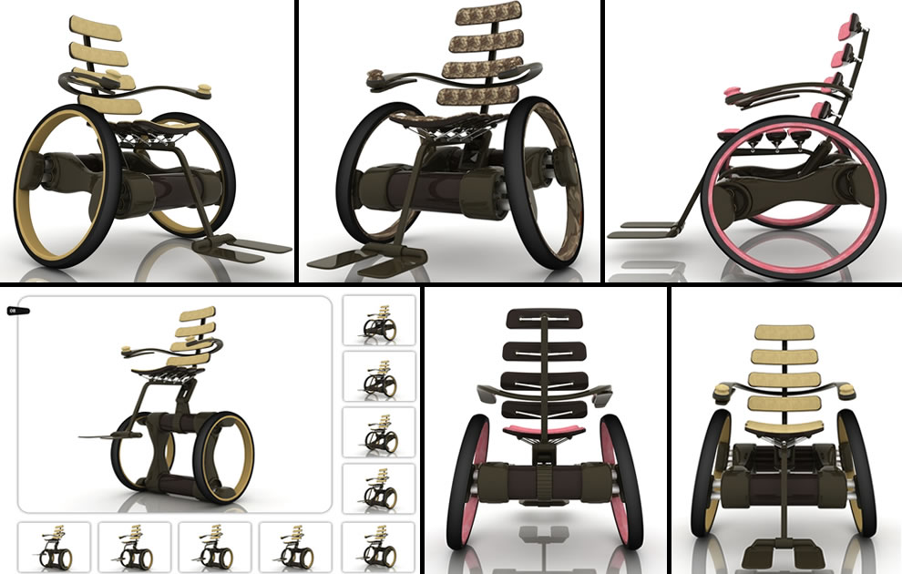 Electric elevating wheelchair design concept by industrial designer Ivo Tanchev
