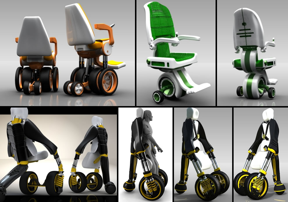 Elevating electric wheelchair by designer Jake Eadie wheelchair design concepts