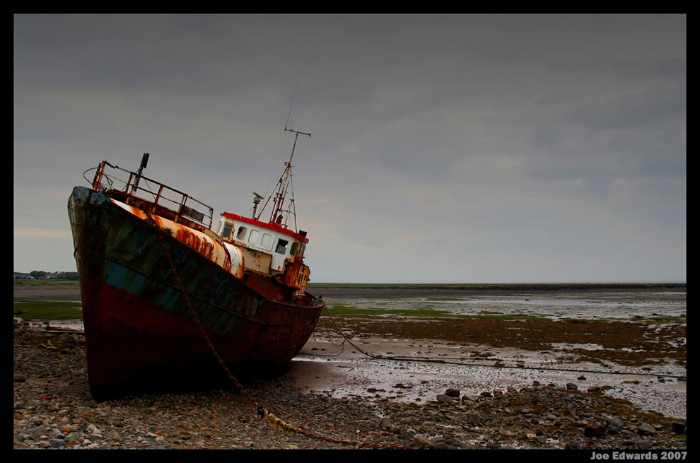Forgotten wreck, this boat has been abandoned near the English seaside