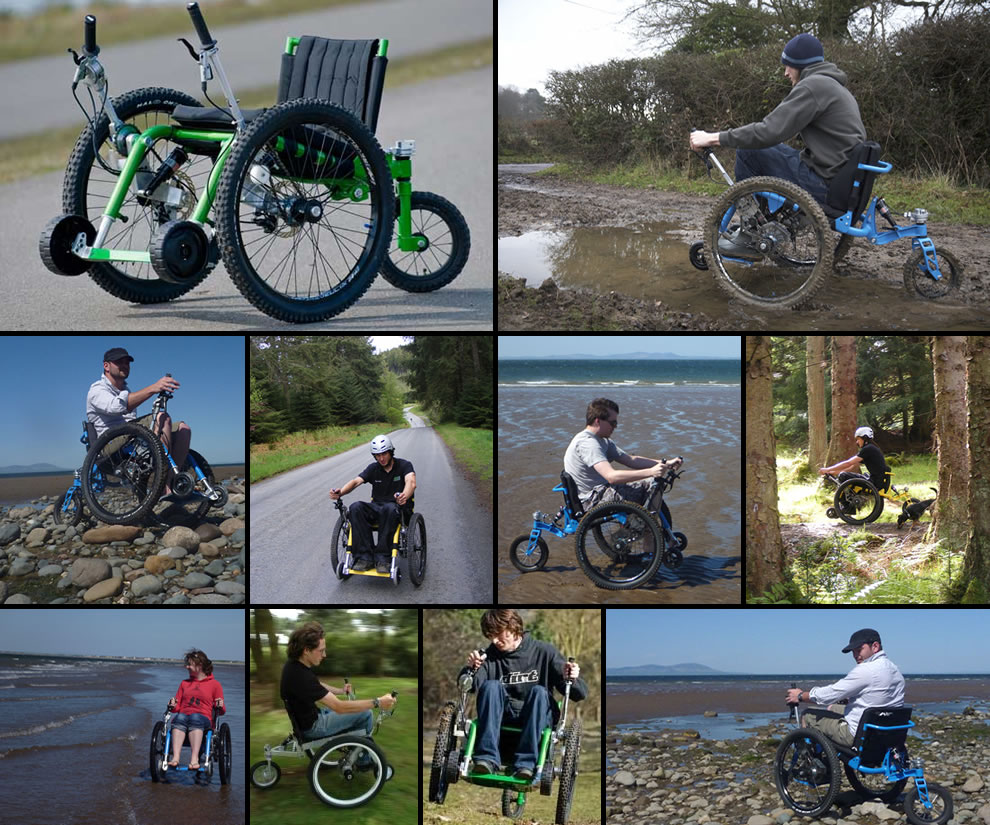 Electric bike adaption for wheel chair youtube - Mountain Trike The All Terrain Wheelchair Awesome Wheelchair Design