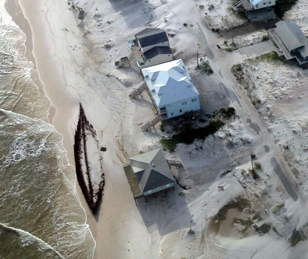 On the Alabama shore, Hurricane Isaac uncovered the wreckage of a schooner named Rachel
