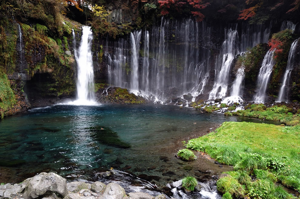 Rock pool at Shiraito Falls, near Mt. Fuji, Japan