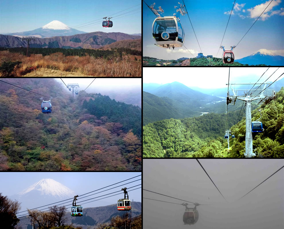 Seeing Mount Fuji via cable car rides