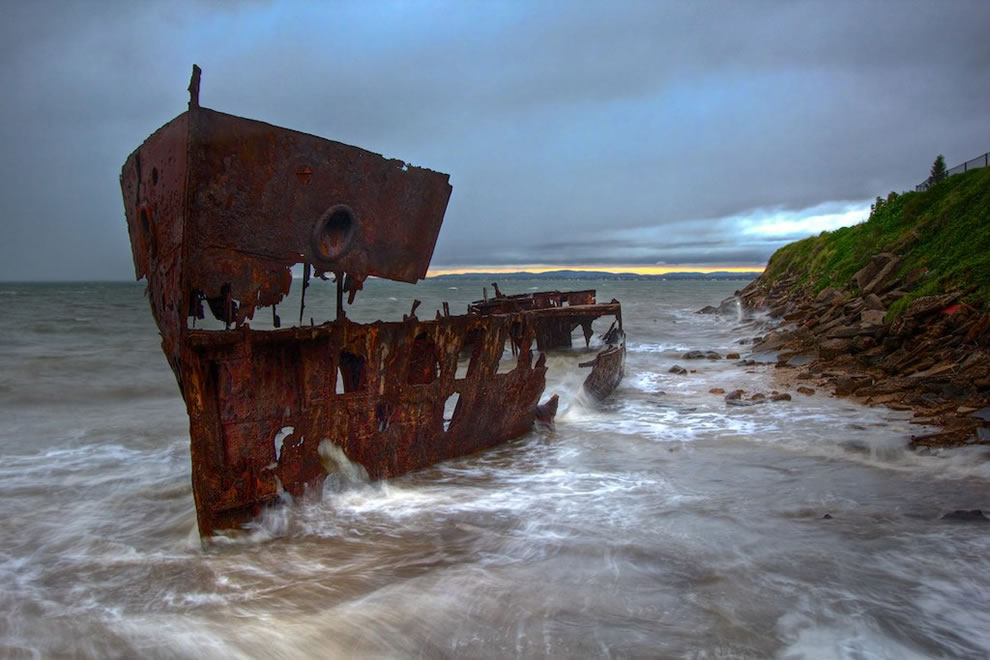 Shipwreck, a Leaky Boat