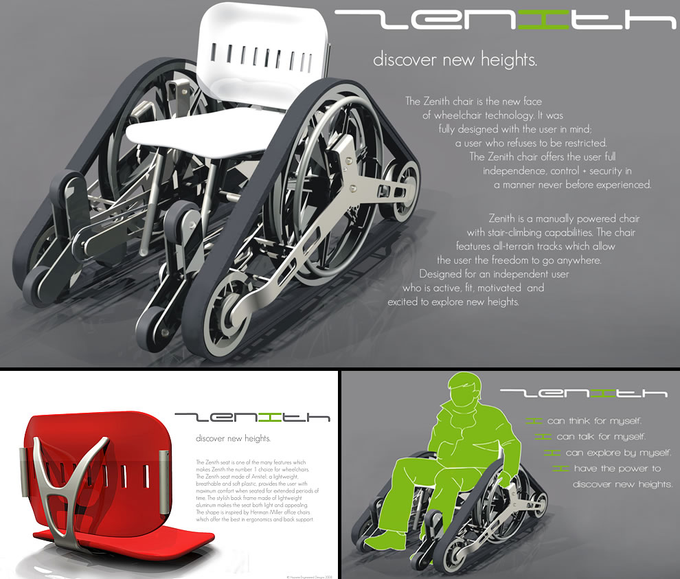 Zenith Wheelchair by Haywire Engineer Designs wheelchair design concepts