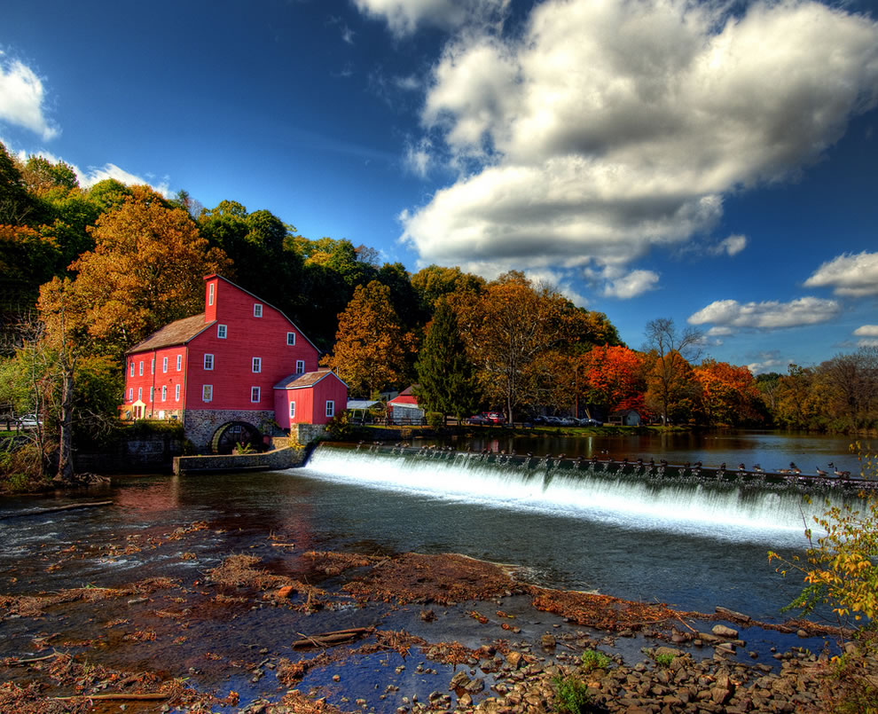 Autumn at Clinton Red Mill in New Jersey fall colors