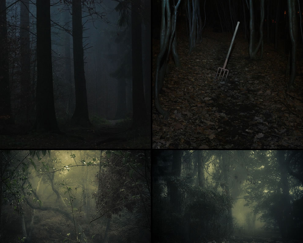Fright night, Dark heart of the forest, a pitchfork in the path, like a scary movie