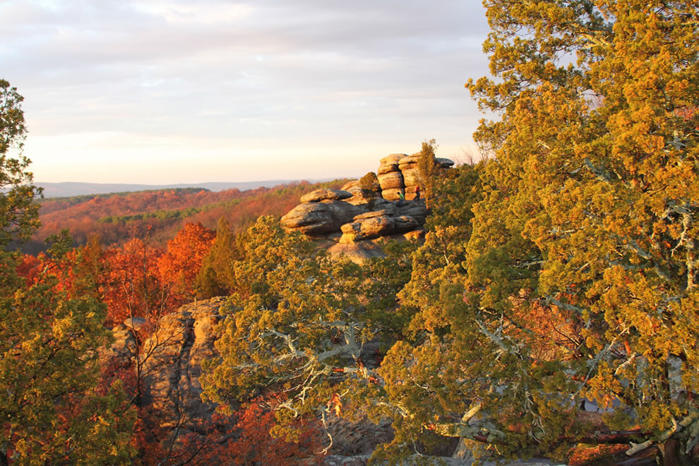 Garden of the Gods is located in southern Illinois in the Shawnee National Forest