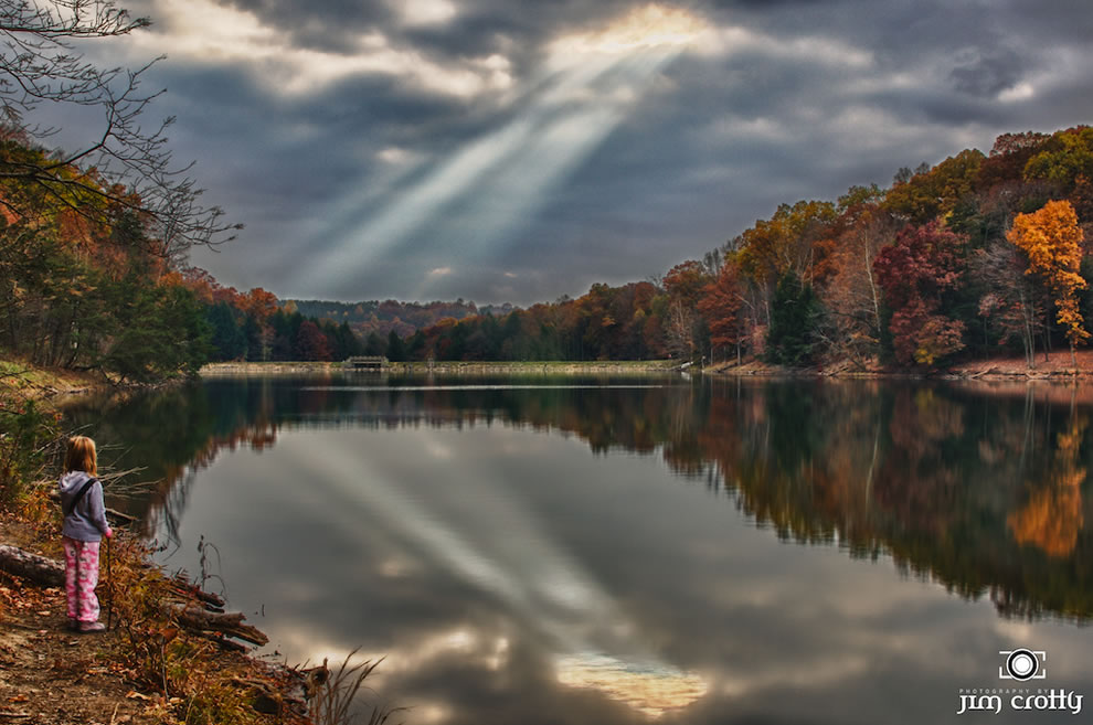 November Sky at Rose Lake in Hocking Hills
