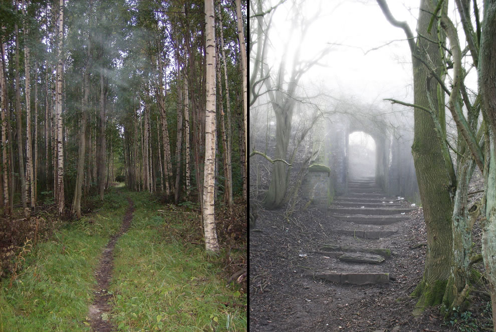 Unexplained spooky fog & Eerie shortcut through the woods