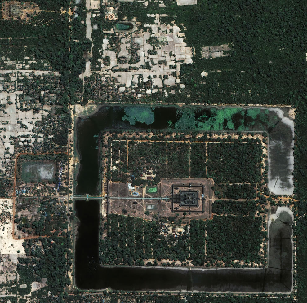 Aerial of Angkor Wat