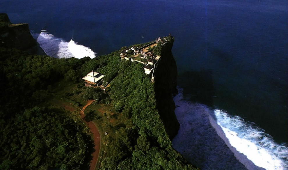Aerial photo of Uluwatu Temple