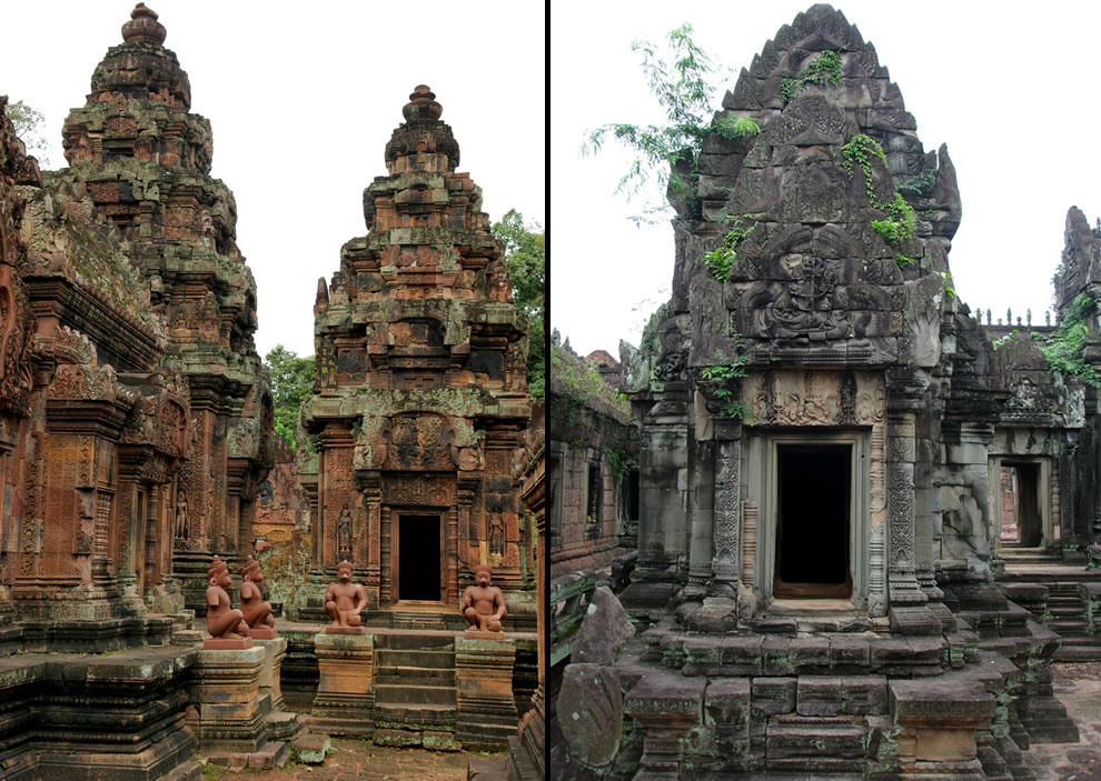 Banteay Srei on left; Banteay Samre on right
