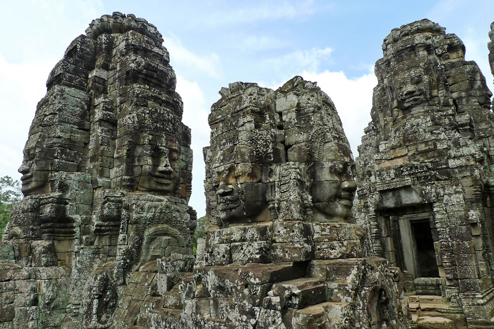 Bayon -- A temple called Bayonne, Angkor Thom, the Angkor complex, Siem Reap, Cambodia