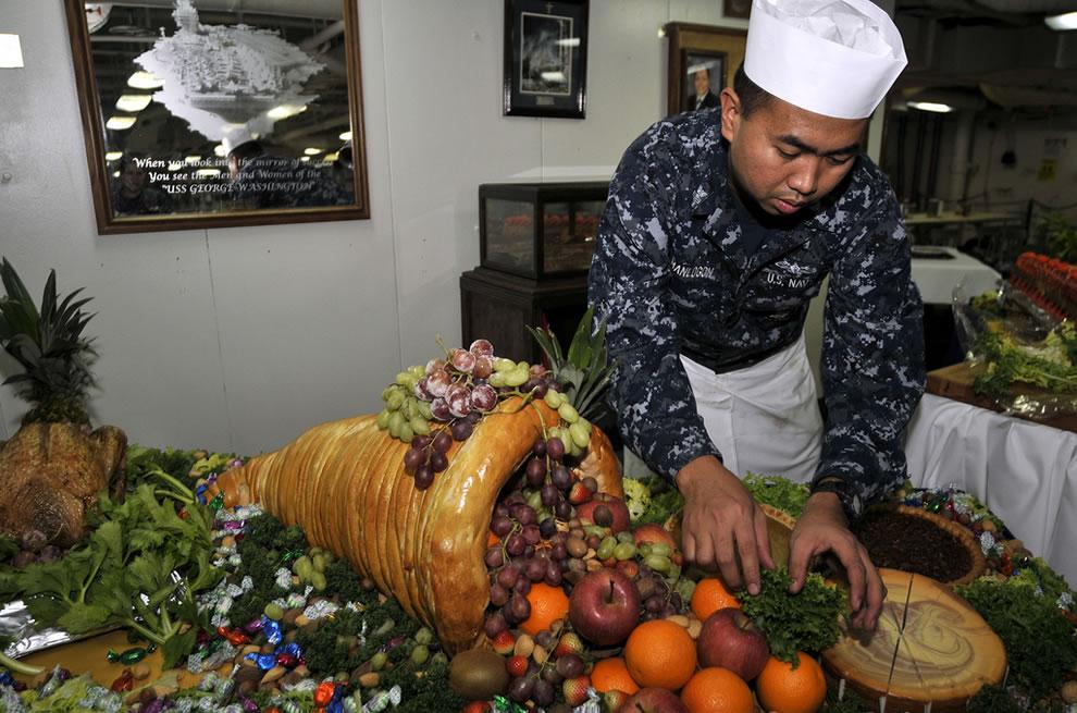 Culinary Specialist prepares cornucopia